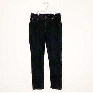LEVI'S Mid-Rise Black Skinny Jeans